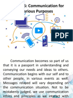 Purposive Communication