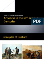 Artworks in the 20th and 21st Centuries