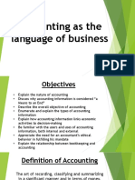 Chapter 2 - Accounting as the Language of Business