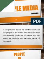 Lesson 11 People Media
