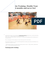 kalaripayattu training- double your stamina in 6 months and never feel tired