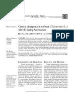 Genetic Divergence in Soybean (Glycine max L. Merill) during rabi season
