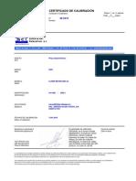 certificado pinza amperimetrica