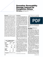 Formation Permeability Damage Induced by Completion Brines