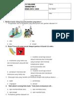 Soal Pas Kelas 2 Tema 1 (Www.gurumaju.com)