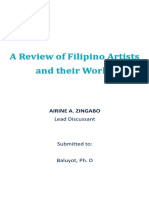 A Review of Filipino Artists and Their Works (Word)