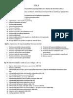 Clasificación por temas de los trastornos del DSM IV