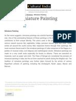 Miniature Painting & Art - History & Evolution, Schools & Techniques