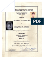 MELJUN CORTES 1997 Certificate MS DOS Lotus 123 Wordstar DbaseIV Certificate