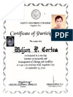 MELJUN CORTES 2001 Certificate Research Mgmt of Change Conflicts