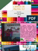 Cierre de Proyecto Valentina Moreno Terminado