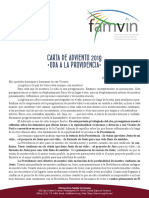 [Español] Carta de Adviento 2019 a la Familia Vicenciana