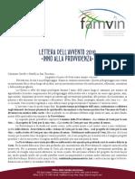 [Italiano] Lettera dell'Avvento 2019 alla Famiglia Vincenziana