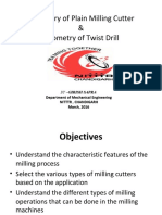 PPTs on Milling Cutters and Twist Drill