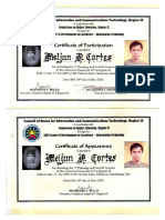 MELJUN CORTES 2003 Certificate CHED Region 9 Council of Dean ADZU SCC Zamboanga City