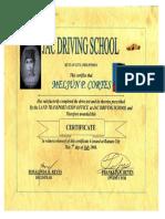 MELJUN CORTES 2006 Certificate Driving COURSE JACK Butuan Driving School