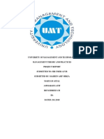 Management Theory and Practices - Report