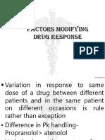 PK-factors Modifying Drug Response
