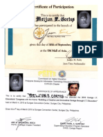 MELJUN CORTES 2011 2010 Certificate JUAN TIME Mall of Asia PSITE CARAGA Certificate of Appearance