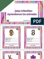 tarjetas animales infantiles