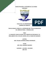 LA GARANTÍA CONSTITUCIONAL DEL PRINCIPIO DE INOCENCIA Y EL REGLAMENTO DE LA POLICÍA JUDICIAL.pdf