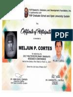 MELJUN CORTES 2017 PUP Multidisciplinary Research Seminar