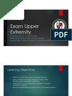 McClain Exam Upper Extremity