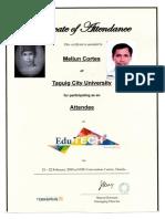 MELJUN CORTES 2018 Edu Tech Certificate of Attendee