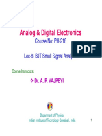 Bjt small signal analysis
