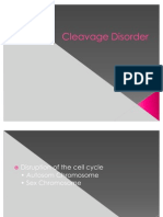 Cleavage Disorder