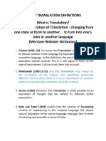 Definitions of Translation