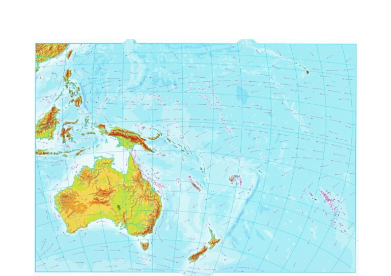 Mapa Oceania Mudo Fisico.Mapa Oceania Mudo Docx