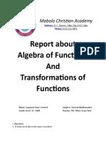 1 Algebra of Functions