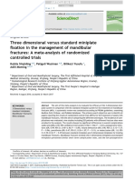 3D Versus Standard Miniplate Fixation in the Management of Mandibular Fractures