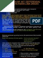 Penggunaan Informasi akuntansi defferensial