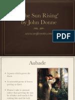 Donne - The Sun Rising