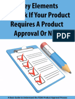 6 Key Elements to Check if Your Product Requires a Product Approval or Not