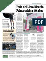 Feria Del Libro Ricardo Palma Celebra 40 Años