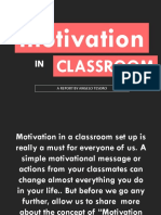 Motivation in Classroom - Angelo 1