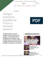 Discutió Con Amigos Mientras Jugaban Al Truco y Terminó Muerto _ Crónica _ Firme Junto Al Pueblo