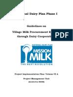 Village Milk Through Dairy Cooperatives