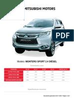 Modelo-Montero Sport 2.4 Diésel