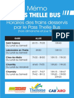 Horaires Trains Thelle Bus