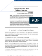 Supply of Irrigation Water