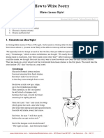 How to Write Poetry Mister Lemur Style