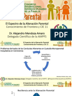 Espectro de la Alienación Parental. Conocimiento de Frontera y CIE 11
