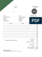 Modelo Factura Imprimible