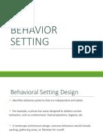 Ar130p Behavior Setting