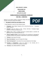 UG PT Regulations 2014