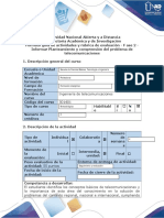 Fase 2. Informar Planteamiento y Comprensión Del Problema de Telecomunicaciones